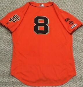 DICKERSON 2 HOME RUNS Size 48 #8 2019 GIANTS GAME USED JERSEY ORANGE 44 MLB HOLO