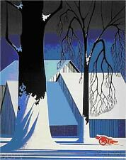 """Eyvind Earl       """"Turquoise""""       Serigraph on Paper"""