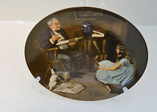 The Storyteller Eighth Plate Norman Rockwell Heritage Collection No Coa Box l984