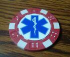 EMS Star of Life Caduceus Medical design Poker Chip,Golf Ball Marker,Card Guard