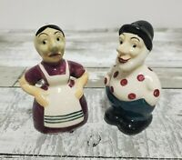 Salt and Pepper Shakers - Enesco Imports Japan - Matching Couple - Vintage Set