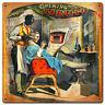 Barber Shop Chewing Tabacco Friseur Werbung USA Retro Sign Blechschild Schild