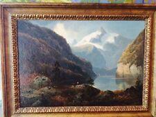 Oil on canvas  David  Johnson  HUDSON RIVER SCHOOL  White Mts. listed artist