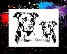 American Pitbull Set 01 Airbrush Stencil,Template, Stencil