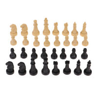 32pcs/set 4.8cm Plastic Chess Pieces Only for Kids Board Game (Wooden/Black)