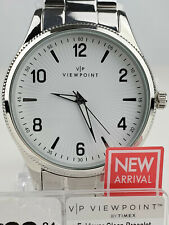Timex Viewpoint AA3D85300, Men's Silver Tone Watch, Luminous Hands, 30 Meter WR