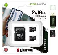 16GB MicroSD Micro SD Card 100MB/s Class 10 A1 TF Memory Card 2x 16G =32GB Lot 2