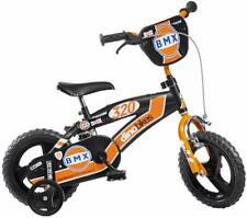 FIETS VOOR KINDEREN 12 BMX BLACK AND ORANGE AGE 3/4 YEARS HEIGHT 87 CM / 110 CM