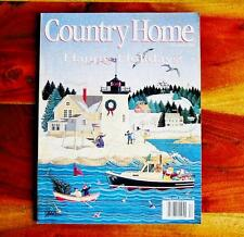 Country Home Magazine Dec 1994 Christmas Spun Glass Ornaments Old Time Toys