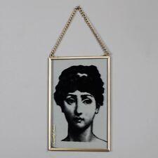 pendant cadre doré verre DAME Boudoir Plaque Vintage féminin idée cadeau