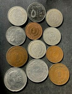 Old JORDAN Coin Lot - 1949-PRESENT - 12 Excellent Coins - Lot #S27