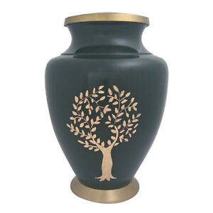 Aria Tree of Life, Green Adult Urn for Cremation Ashes Large Urn
