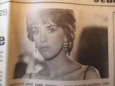 ISABELLE ADJANI : MORTELLE RANDONNEE - 28/03/1985 - JOURNAL belge -