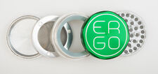 "ERGO Aluminum herb GRINDER 2.00"" 4 piece w/ 3 REMOVABLE SCREENS 50mm GREEN"