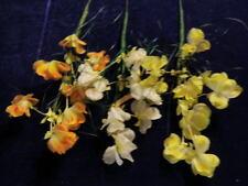 """Vintage Millinery Flower Collection 2 1/2"""" German Yellow Orange Ecru Filmy H1012"""