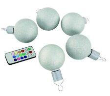 LED Leuchtkugeln Weihnachtskugeln Christbaumkugeln 5er Fernbedienung multicolor
