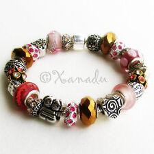 My Sister Is My Best Friend Pink Gold Fuchsia European Style Charm Bracelet
