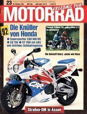 M9123 + Vergleich TRIUMPH Trident 750 vs. BMW K 75 + MOTORRAD 23 1991