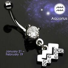 Bauchnabel Piercing Schmuck Sternzeichen Wassermann NEU Horoskop Astro