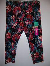 Women's NWT Floral Print Capri Legging  Sz XL (16-18) On Sale