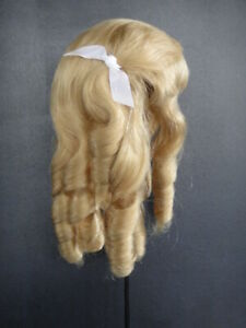 "100%Human hair DOLL wig for Antique doll Jumeau.BLOND. Size 10(head circumf 13"")"