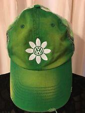 Volkswagen Ladies Green and White Checked Ladies Adjustable Baseball Cap Hat