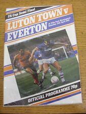 13/04/1985 FA Cup Semi-Final: Luton Town v Everton [At Aston Villa] . Thanks for