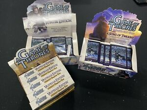 A Game of Thrones CCG Booster Pack & Starter Deck Lot