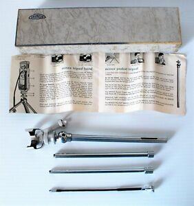 Vintage MINOX Spy Camera Pocket Tripod, Tripod Head, Shutter Release, Flyer, Box