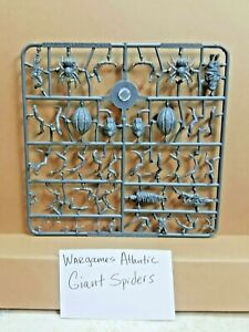 Wargames Atlantic Giant Spiders 1 Sprue 4 spiders 28mm Frostgrave Oathmark MESBG