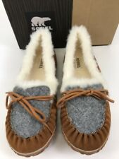 NIB SOREL Size 8.5 Women's Elk Fawn Suede OUT N ABOUT Indoor/Outdoor Slipper