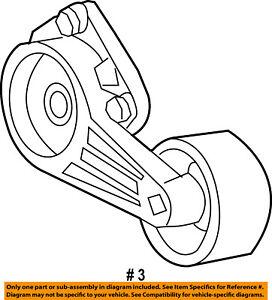 FORD OEM 97-03 F-150-Serpentine Fan Belt Tensioner 5L3Z6B209AA