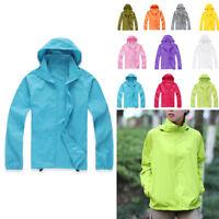 PLUS SIZE Mens Women Waterproof Casual Jacket Outdoor Oversized Rain Coat Tops