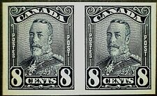 Canada Scott #154a King George Scroll Issue Imperforate Pair -Rare Est 250 pairs