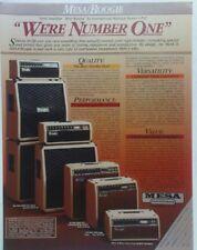 retro magazine advert 1984 MESA / BOOGIE