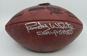 "Randy White "" SB XII MVP "" Signed Full Size Football BAS WITNESSED Cowboys HOF"