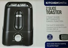 Kitchen Smith 2 Slice Toaster W/7 Settings Shade Control Bagels Open Box