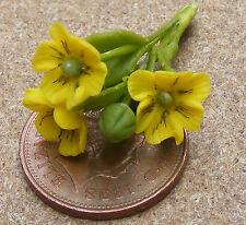 1:12 Maßstab Set mit 3 Gelb Mohn Stil Blumen Tumdee Puppenhaus Garten