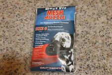 "Coastal Best Fit Mesh Muzzle Size 6 For Standard Breeds 8"" Nose Circumference"