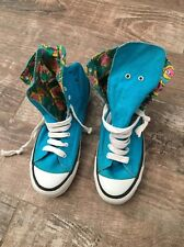 SPUDS MACKENZIE ANHEUSER BUSCH 1986 BLUE HIGH TOP SNEAKERS SIZE 8