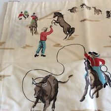 """Chaps Lined COWBOY RODEO Horses WESTERN Canyon Road Valance 64"""" X 17"""" NEW"""