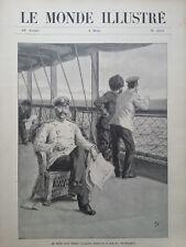 LE MONDE ILLUSTRE 1905 N 2501 LE GENERAL STOESSEL PAR POUR ODESSA