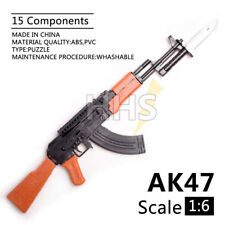 """1/6 Scale AK47 Assault Rifle For 12"""" Action Figure Model Weapon Gun Army Soldier"""