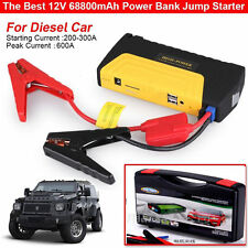 68800mAh 2/4USB Car Jump Starter Emergency Charger Booster Power Bank Battery t1