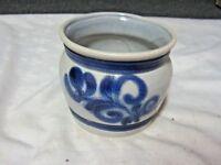 A Vintage European Cobalt Blue & Grey Salt Glaze Stoneware Vase (JLK ????)