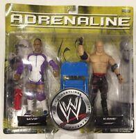 2008 WWF WWE KANE + MVP 2-pack Figure Adrenaline Series 25 JAKKS