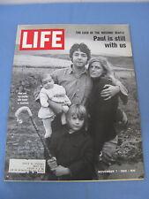 LIFE MAGAZINE NOVEMBER 7 1969 PAUL MCCARTNEY MISSING BEATLES COVER NICE!!!!