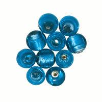 Handmade Cube Glass Beads Shiny Opaque Dark Blue 8mm Pack of 10 Q102//3