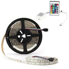 5M RGB 300leds Waterproof 3528 SMD LED Light Strip +24keys IR Remote Controller