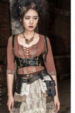 rq-bl steampunk black harness top L
